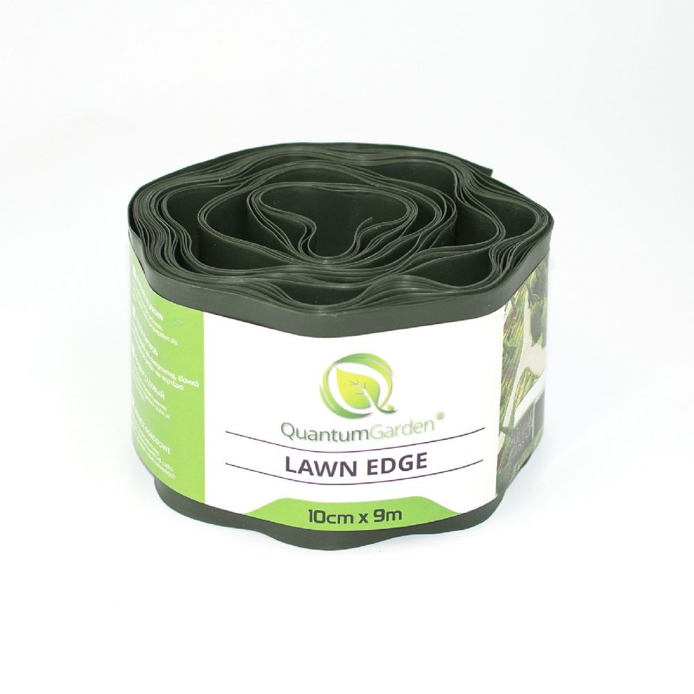 Flexible Plastic Lawn Edge 10cm x 9m in Dark Green Colour